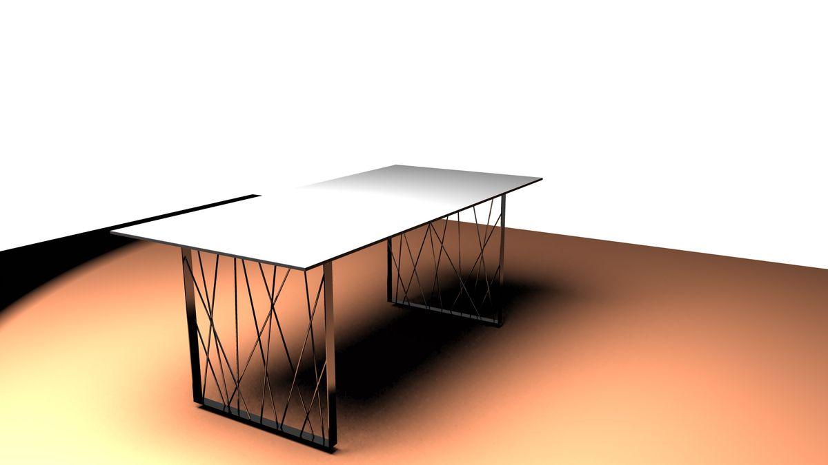 TABLE METAL BUREAU-METALLERIE-MARTIN