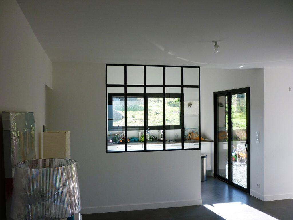 Ouverture verrière d'atelier d'artiste détail verrière d'atelier sur-mesure METALLERIE MARTIN