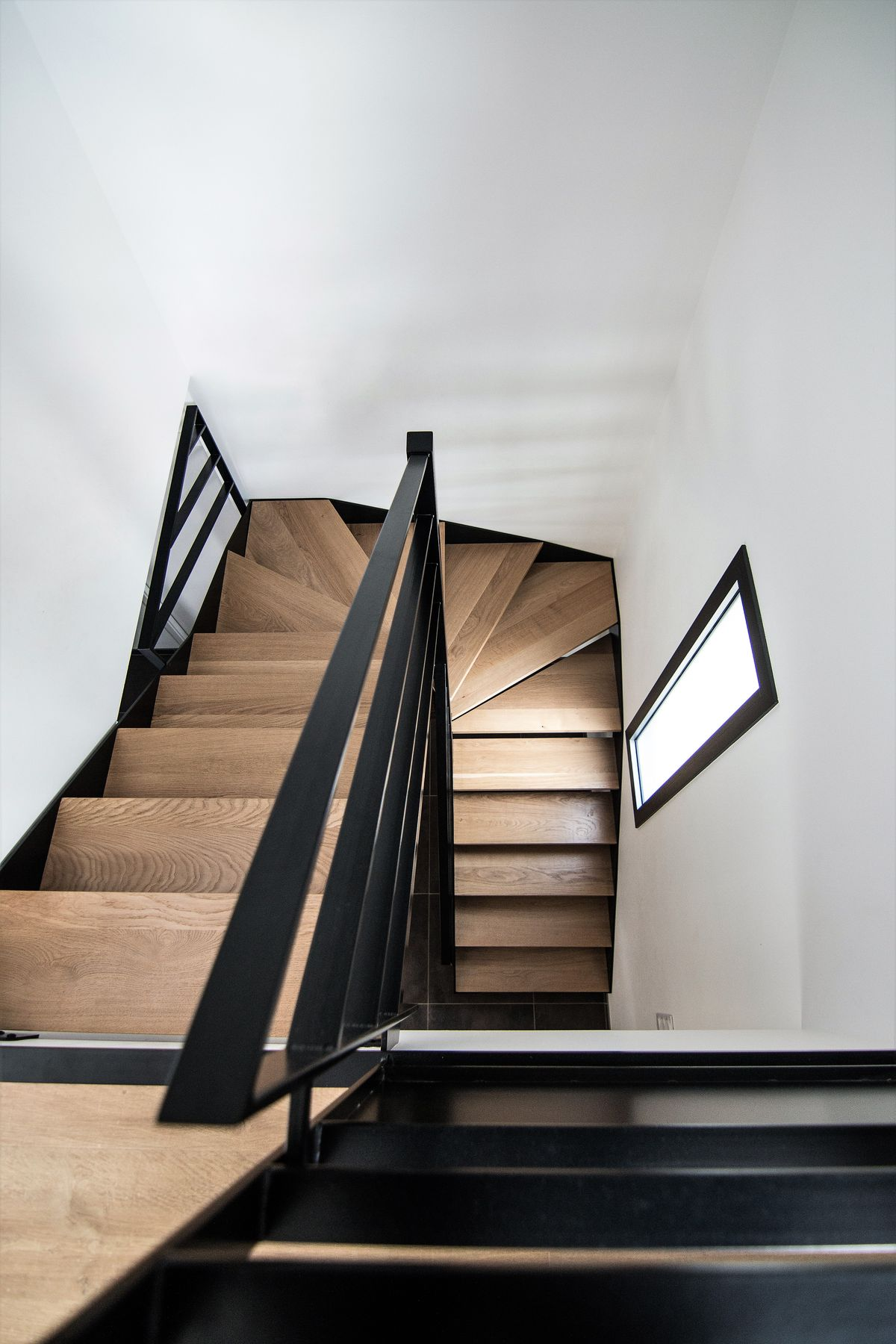 Escalier Bois Metal Noir escalier bois metal laque noir-metallerie-martin